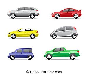 Los íconos de los coches marcan la tercera parte