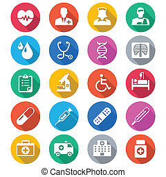 Los íconos del color de la salud