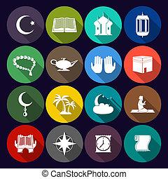 Los íconos islámicos se llagaron