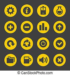 Los íconos simples universales marcan 2