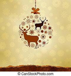 Los adornos navideños hechos de copos de nieve. EPS 8