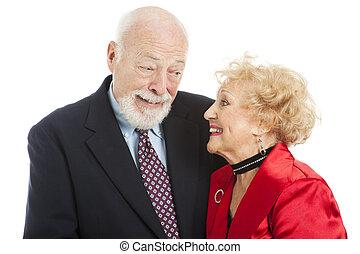 Los ancianos de las vacaciones - mirada conocida