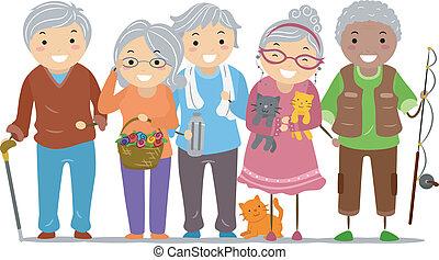 Los ancianos, el paloman