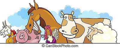 Los animales de granja de cartón diseñan