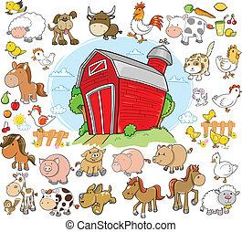 Los animales de granja diseñan vectores