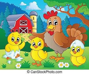 Los animales de granja temática 7