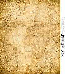 Los antiguos piratas mapa del fondo del mapa del tesoro