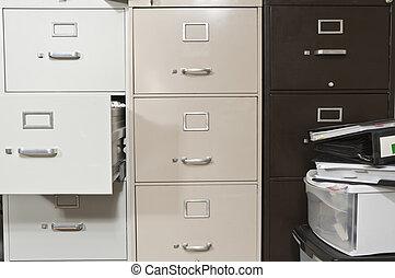 Los armarios de archivo Funky