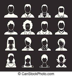 Los Avatares marcan el vector gris