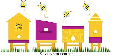 Los Bee albergan a los vectores de recolección de primavera