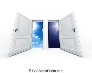 Los blancos abrieron puertas de día y de noche para observar al aire libre