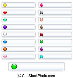 Los botones Web son blancos