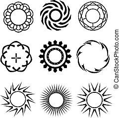 Los círculos negros son como elementos de diseño