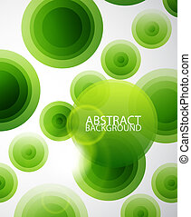 Los círculos verdes son un fondo abstracto