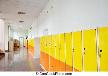 Los casilleros de estudiantes
