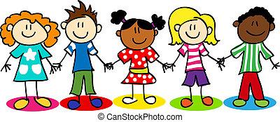 Los chicos de la diversidad étnica