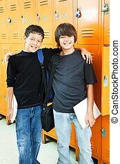 Los chicos de la escuela, los mejores amigos
