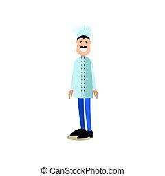 Los cocineros vector de ilustración en estilo plano