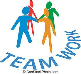 Los colaboradores se unen al trabajo en equipo