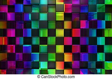 Los colores bloquean el fondo abstracto