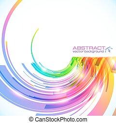 Los colores del arco iris vector abstracto brillante de fondo