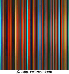 Los colores vibrantes se graduaron con rayas abstractas.