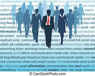 Los conceptos de la red social de los medios de comunicación