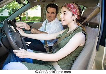 Los conductores jóvenes son educados