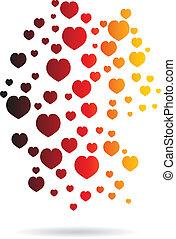 Los corazones de Alemania mapear el logo de la imagen