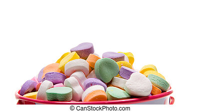 Los corazones de Candy Valentine, primer plano