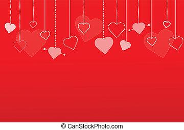 Los corazones rojos ilustran el pasado