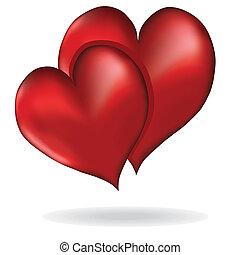 Los corazones simbolizan el elemento vector del amor diseño del Día de San Valentín