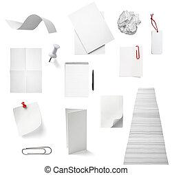 Los cuadernos de notas de papel de la oficina