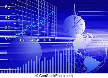 Los datos financieros del mundo de los negocios son un fondo abstracto