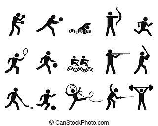 Los deportistas siluetas el icono