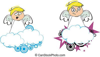 Los dibujos animados de Ángel copian el 9