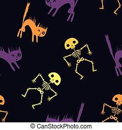Los dibujos animados de Halloween sin fondo. Ilustración de vectores