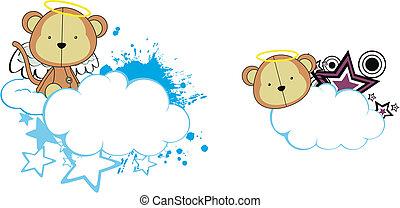 Los dibujos animados de los ángeles monos