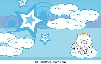 Los dibujos animados de los ángeles polares