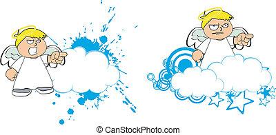 Los dibujos animados de los niños Angel copian a 10