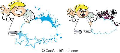 Los dibujos animados de los niños Angel copian el 8