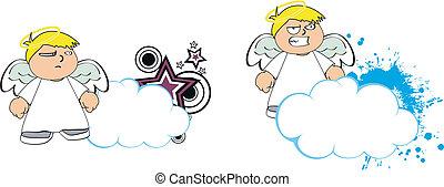 Los dibujos animados de los niños Angel copian el mapa