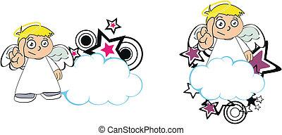Los dibujos animados de los niños Angel copian la página 7