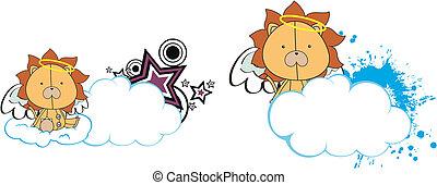Los dibujos animados del ángel león