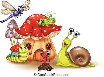 Los dibujos animados son animales pequeños
