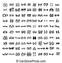 Los dibujos de los ojos dibujados