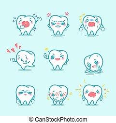 Los dientes hacen una expresión diferente