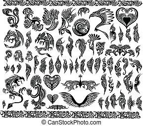 Los dragones hacen tatuajes en la frontera
