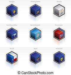 Los EE.UU. marcan iconos. Diseñan elementos 58
