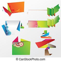Los elementos de diseño de los Origami